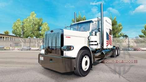 Powerhouse Transport skin for the truck Peterbil for American Truck Simulator