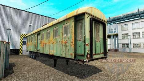 Semi-trailers with zeleznodoroznyj compositions for Euro Truck Simulator 2
