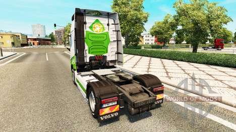 EAcres skin v1.1 tractor Volvo for Euro Truck Simulator 2