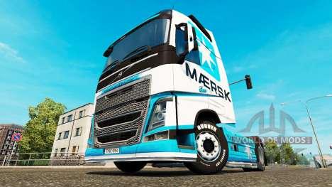 Maersk skin for Volvo truck for Euro Truck Simulator 2