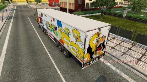 Simpsons skin for a trailer for Euro Truck Simulator 2