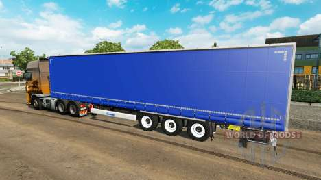 Curtain semi-trailer for Euro Truck Simulator 2