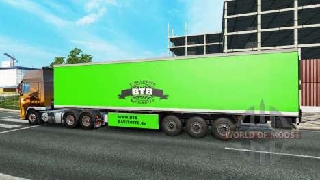 BTB skin on the trailer for Euro Truck Simulator 2