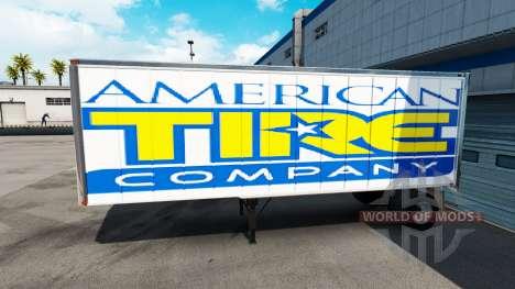 Skin American Tire on the trailer for American Truck Simulator