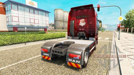 Christmas skin for MAN truck for Euro Truck Simulator 2