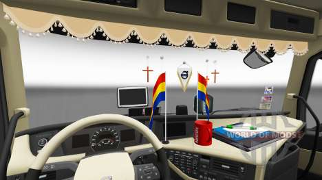 Updated interior Volvo FH for Euro Truck Simulator 2