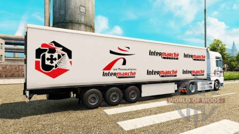 Skin Intermarket on tractor MAN for Euro Truck Simulator 2