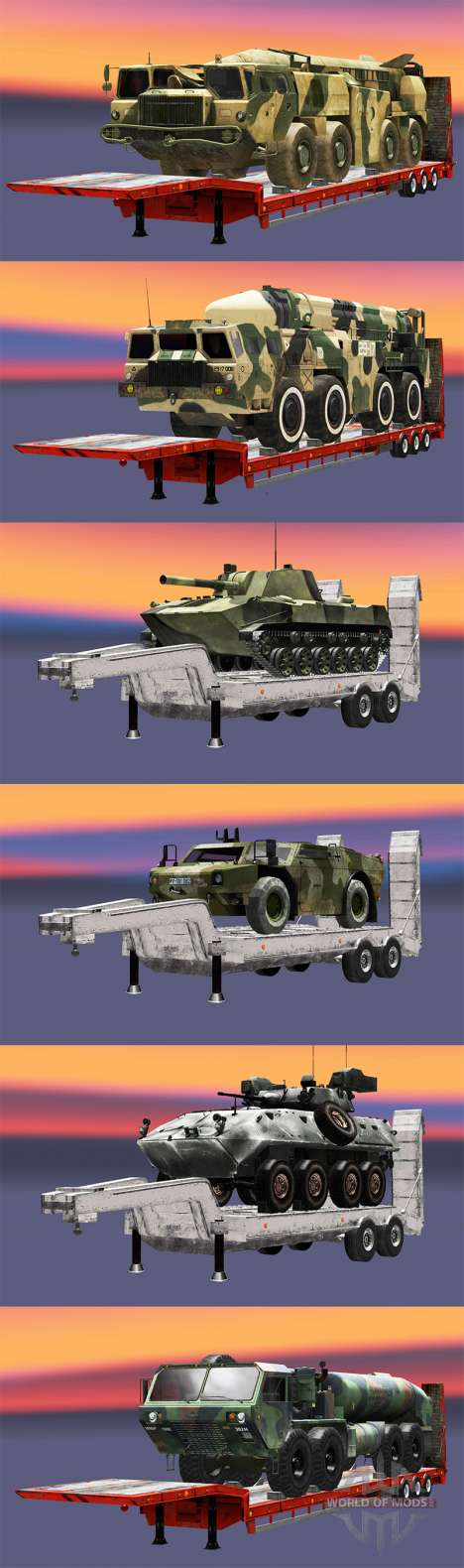 Semi carrying military equipment v1.1 for Euro Truck Simulator 2