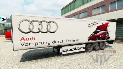 Skin Audi in the trailer for Euro Truck Simulator 2