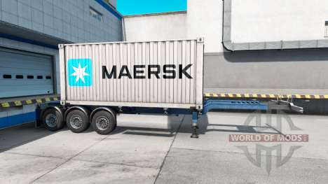Semi-container ship Maersk for American Truck Simulator