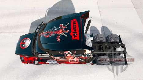 Deadpool skin for the truck Peterbilt for American Truck Simulator