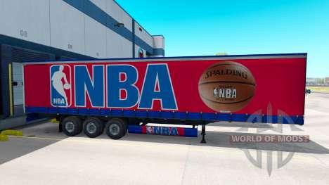 Skin NBA on the trailer for American Truck Simulator