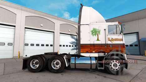 Skin Wood Shop for a tractor unit Freightliner F for American Truck Simulator