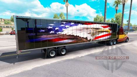 Skin American eagle on the back of a semi for American Truck Simulator