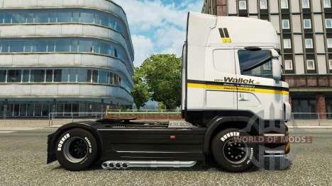 Wallek skin for Scania truck for Euro Truck Simulator 2