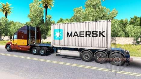 Semi-container ship Maersk for American Truck Simulator