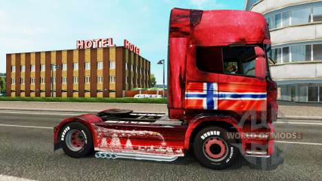 Norway skin for Scania truck for Euro Truck Simulator 2
