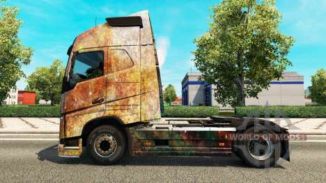 Skin on the Nebula Grunge Volvo trucks for Euro Truck Simulator 2