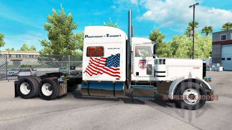 Powerhouse Transport skin for the truck Peterbil for American Truck Simulator
