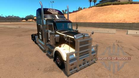 Kenworth W900 Brooklyn Nets Skin for American Truck Simulator