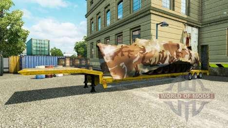 Semi carrying military equipment v1.1 for Euro Truck Simulator 2