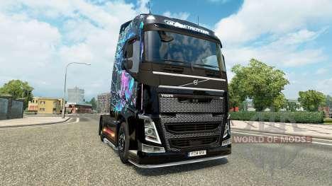 Evil Eyes skin for Volvo truck for Euro Truck Simulator 2