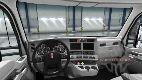Redesigned the interior of the Kenworth T680 for American Truck Simulator