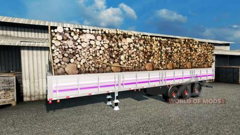 Flatbed semi trailer for Euro Truck Simulator 2