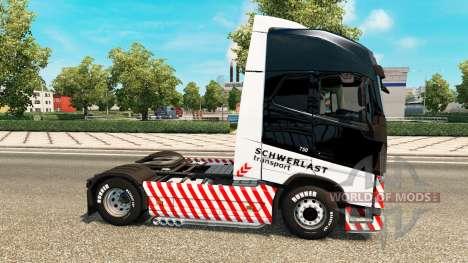 Schwerlast Transport skin for Volvo truck for Euro Truck Simulator 2