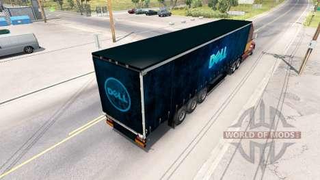 Dell skin on the trailer for American Truck Simulator