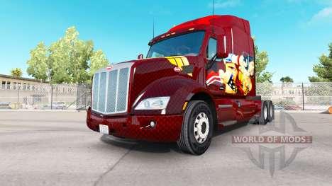 Wonder Woman skin for the truck Peterbilt for American Truck Simulator
