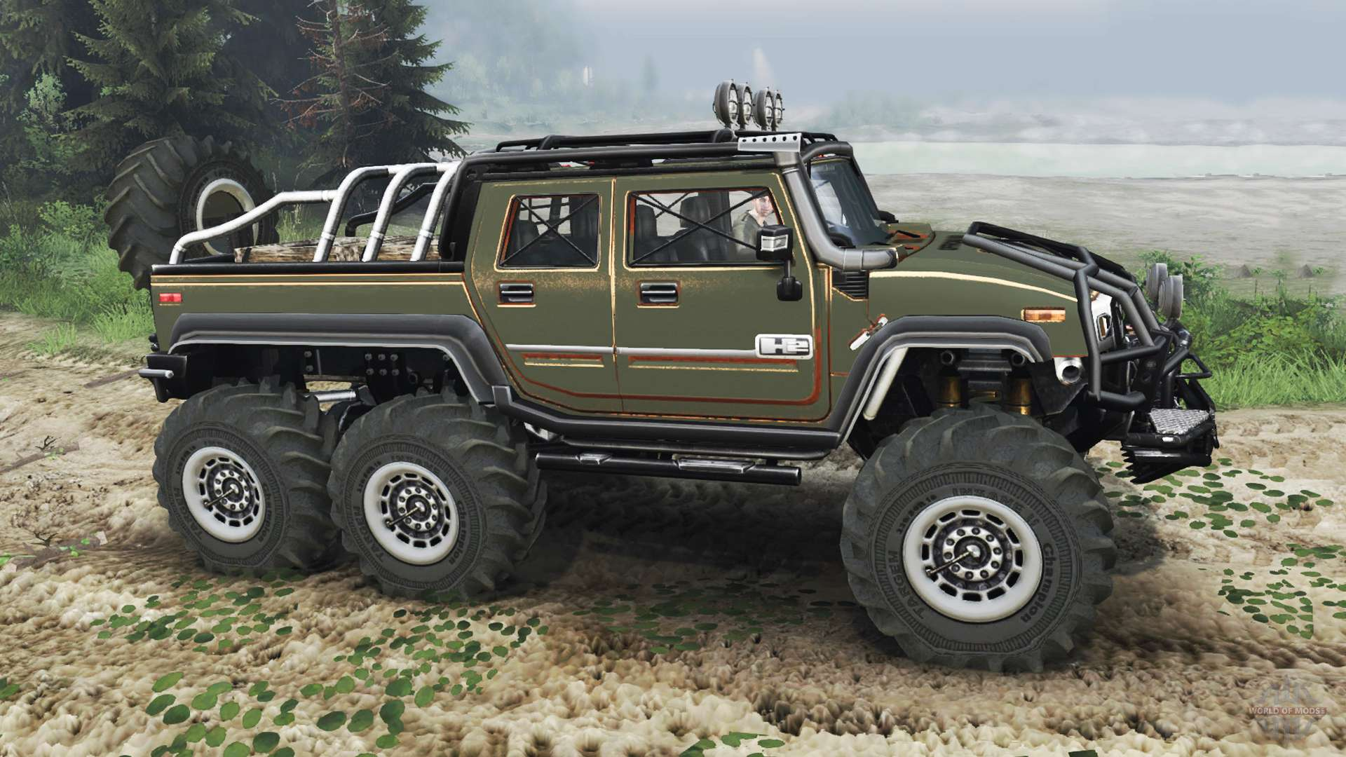 hummer h2 6x6 diesel for spin tires