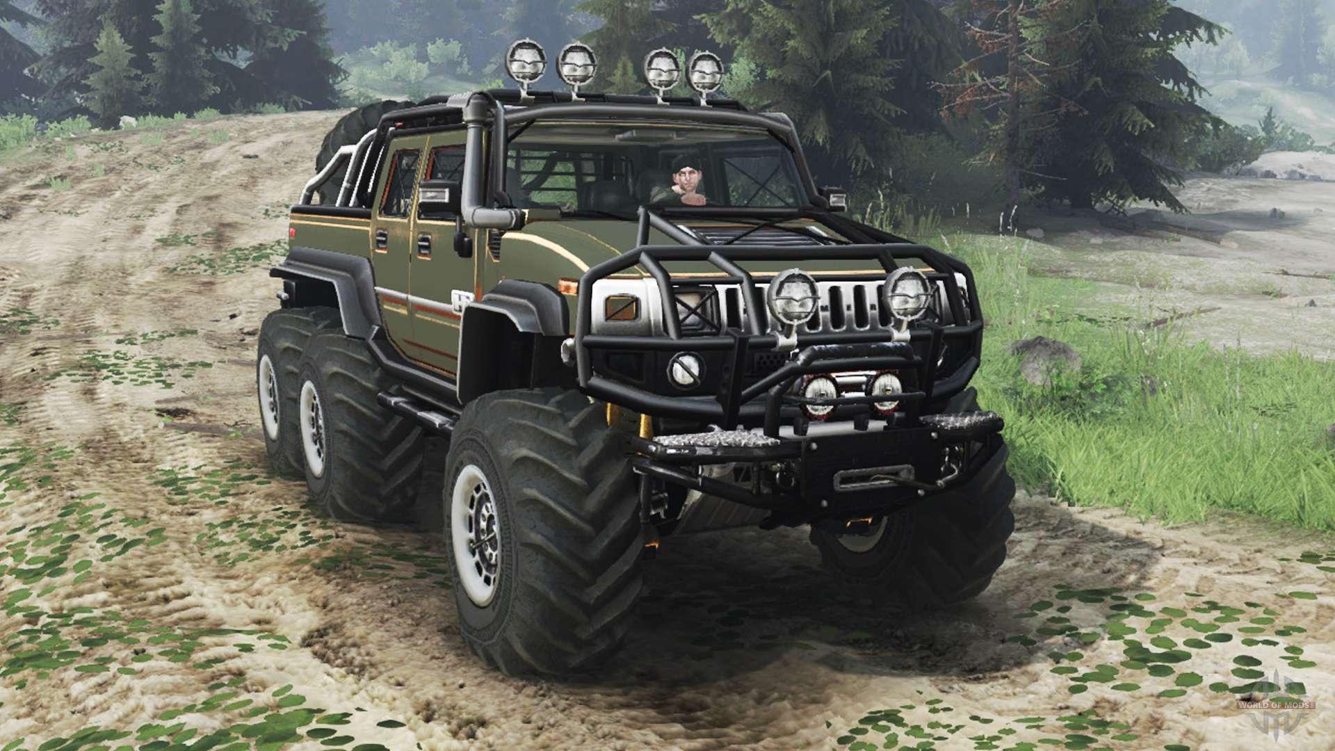 Hummer H2 6x6 Diesel 03 03 16 For Spin Tires