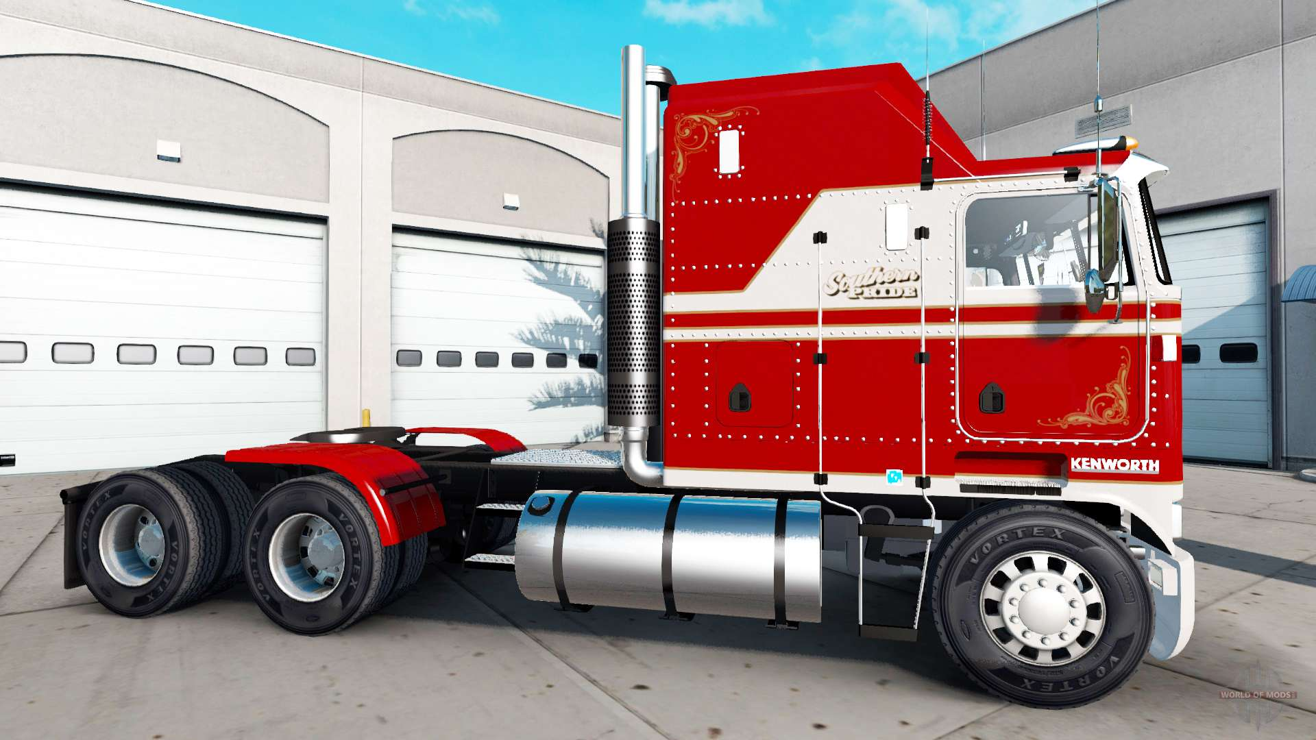 Kenworth K Red And White Paint