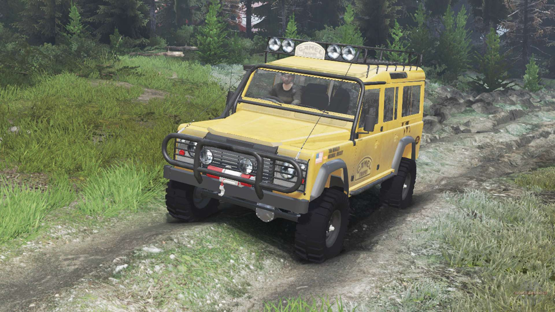 Land Rover Defender 110 Camel Trophy 03 03 16 For Spin Tires