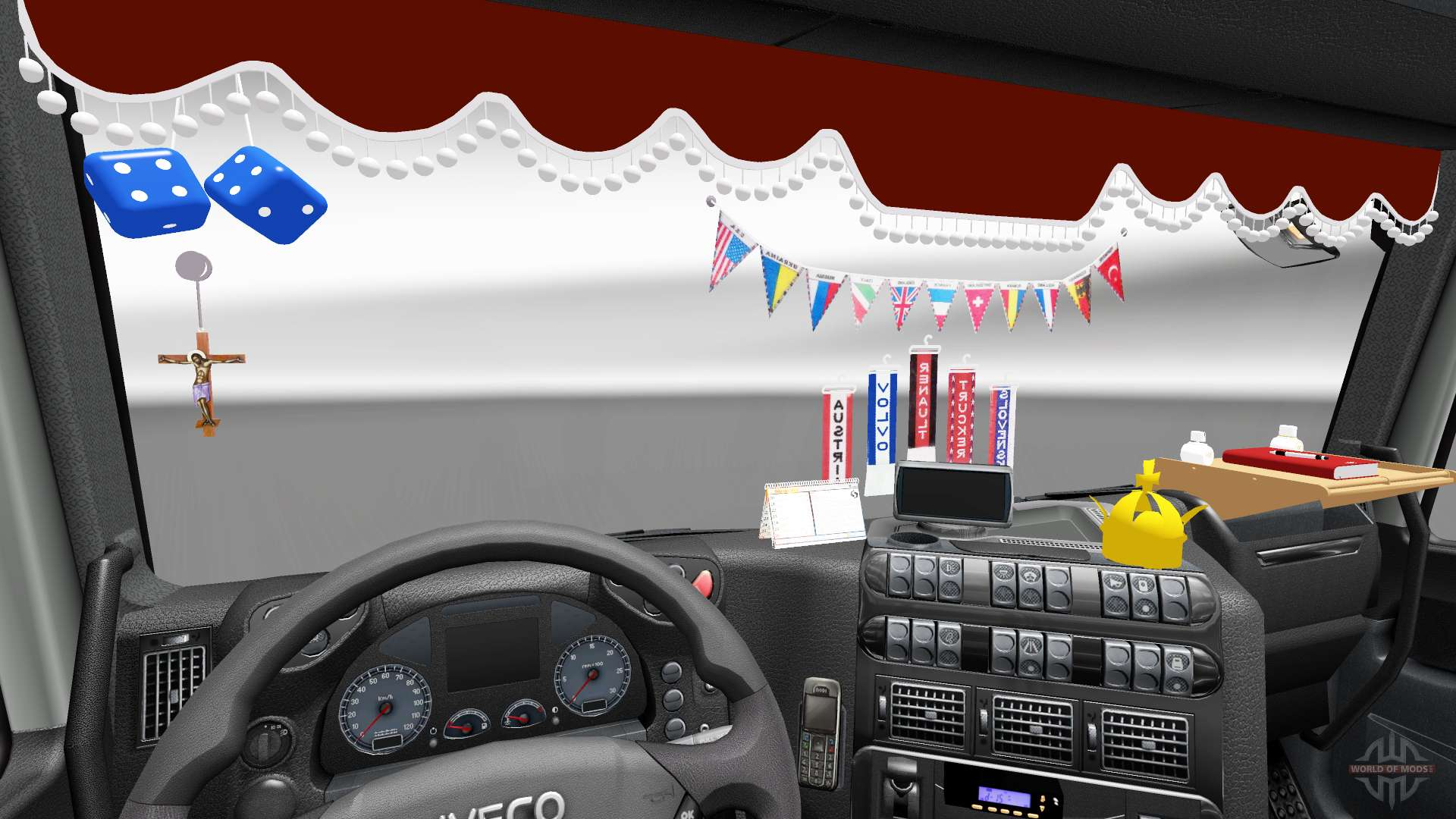 The new interior is from iveco trucks for euro truck for New interior