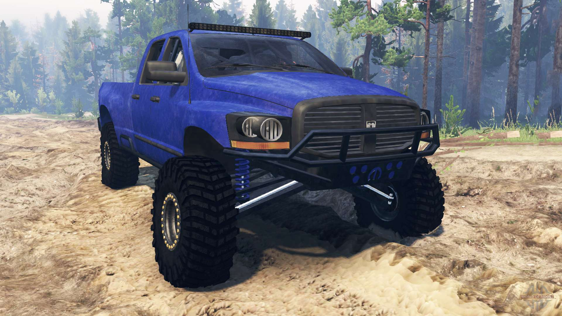 Spintires on 96 Dodge Ram 1500