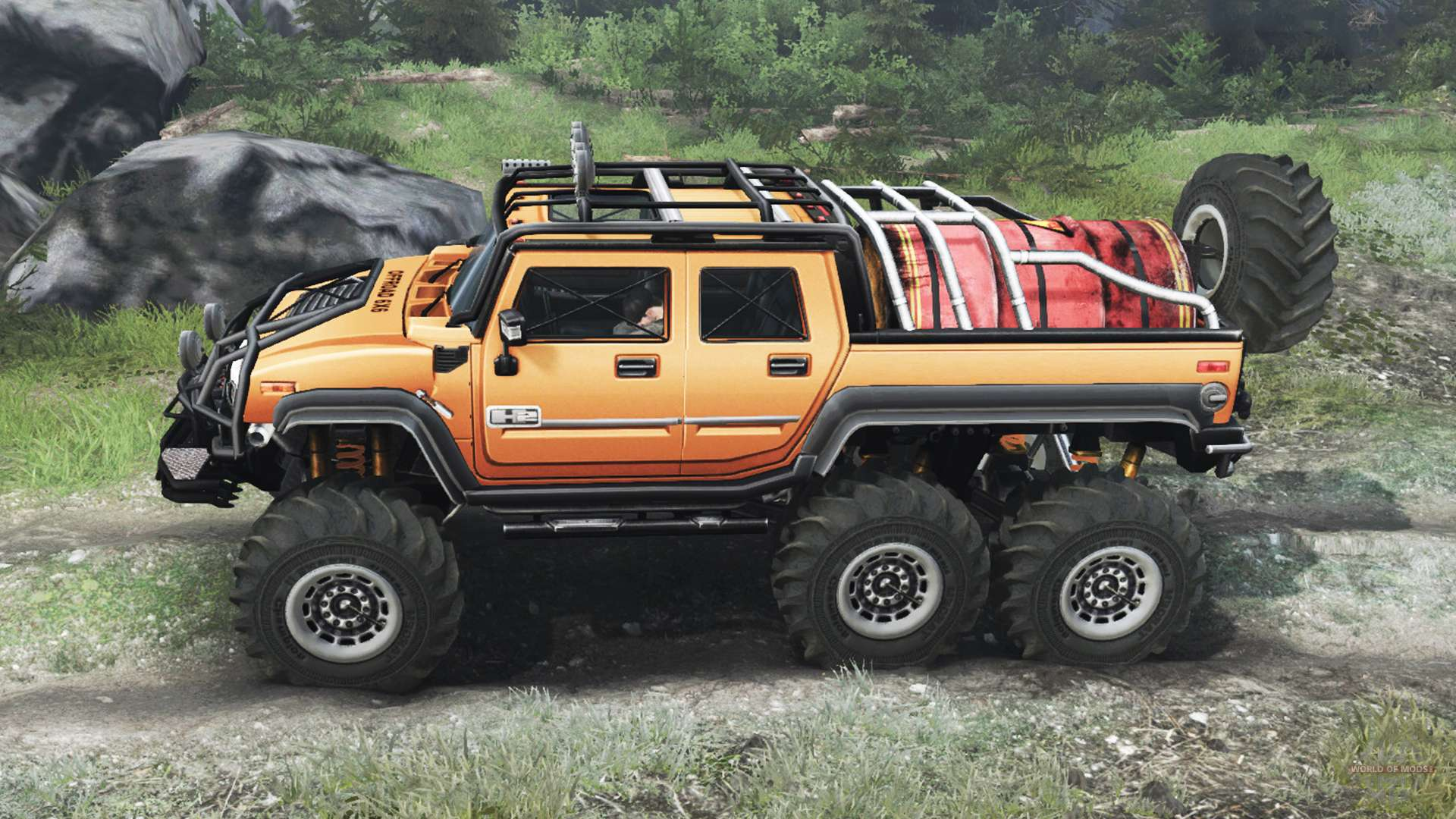 Hummer H2 6x6 03 03 16 For Spin Tires