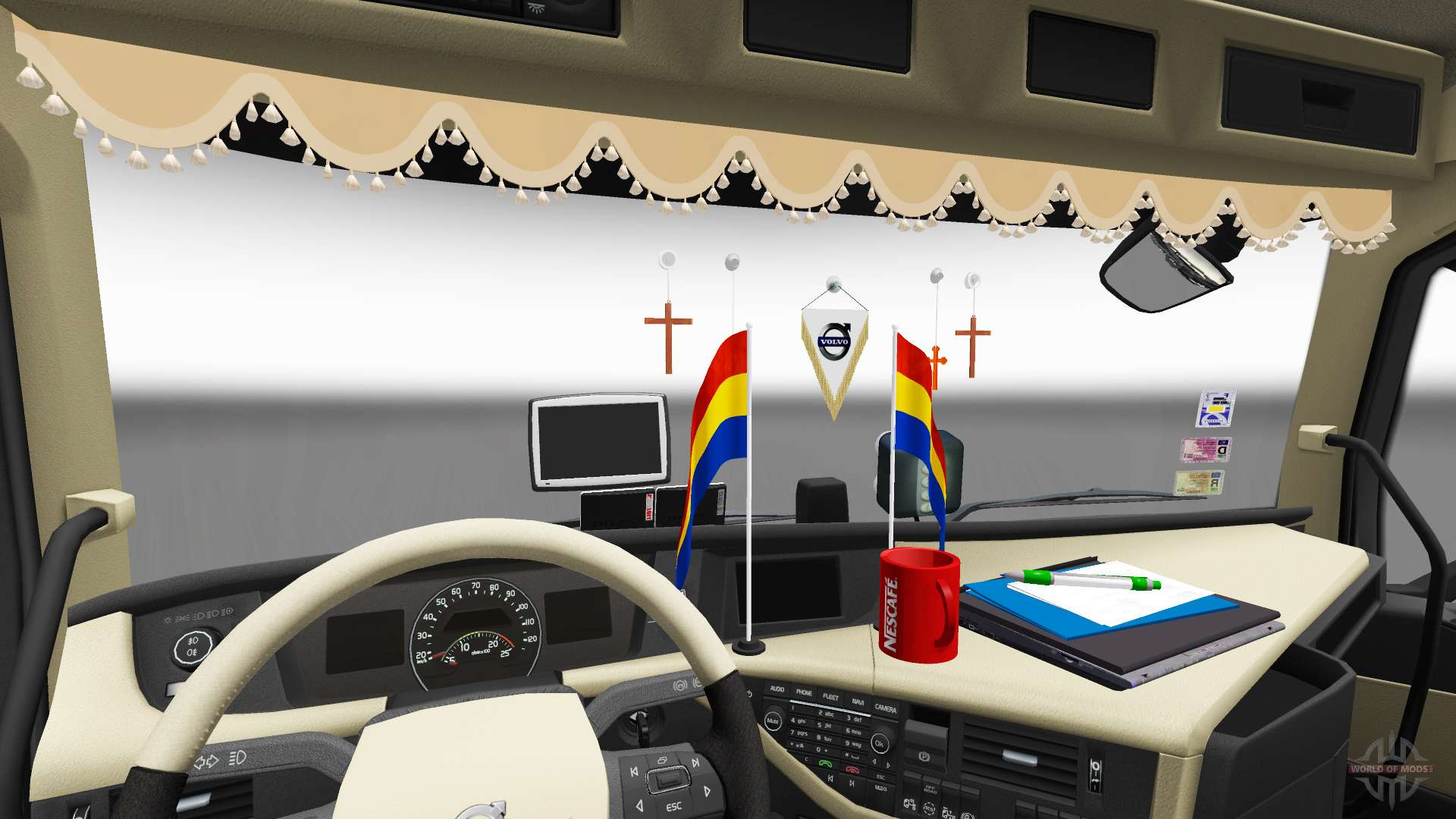 Updated interior volvo fh for euro truck simulator 2 for Interior design simulator