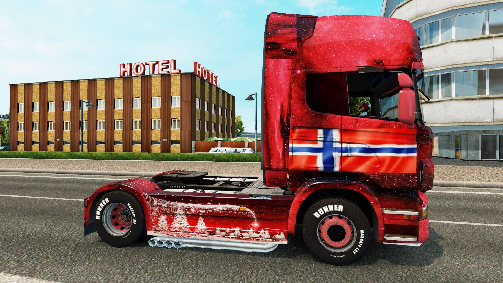 norway skin for scania truck for euro truck simulator 2. Black Bedroom Furniture Sets. Home Design Ideas