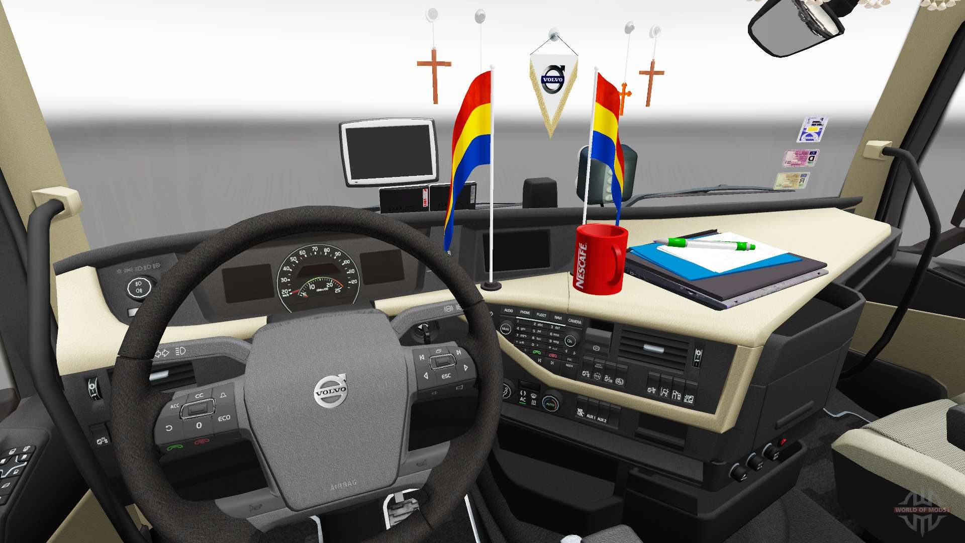 Updated interior Volvo FH for Euro Truck Simulator 2