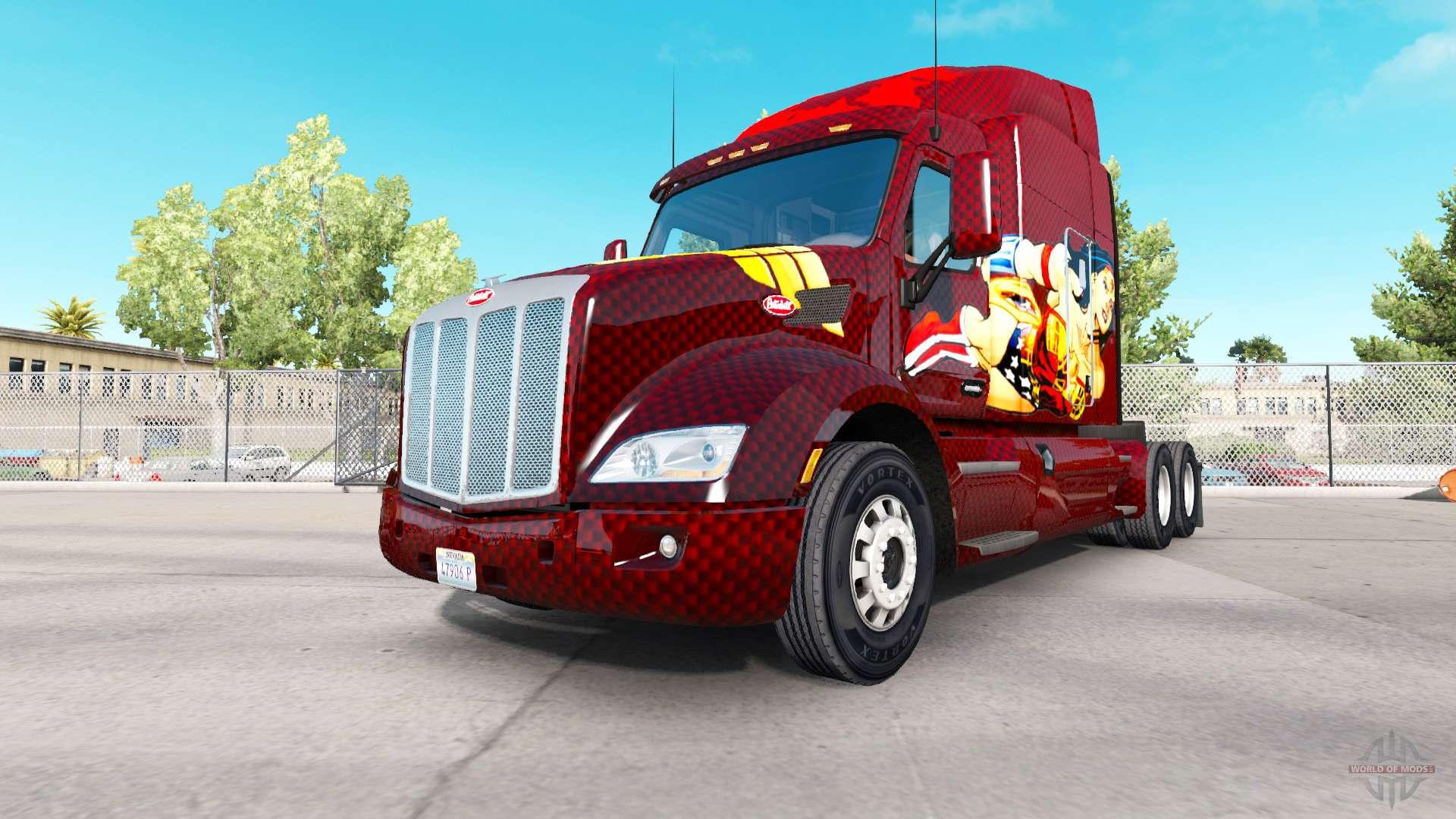 Wonder Woman skin for the truck Peterbilt for American Truck