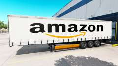 Skin Amazon on the trailer for American Truck Simulator