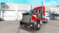 Skin Red on the truck Kenworth W900