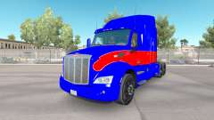 Red and blue skin for the truck Peterbilt