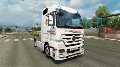 Skin Intermarket on the tractor unit Mercedes-Benz for Euro Truck Simulator 2