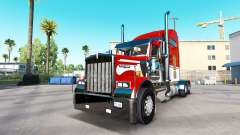 The skin Army on the truck Kenworth W900