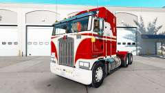 Skin White & Red for the tractor Kenworth K100
