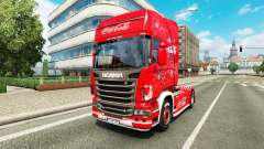 Skin Coca-Cola on the tractor Scania
