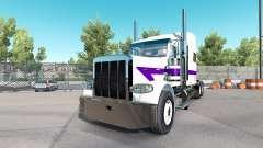 Skin White&Purple for the truck Peterbilt 389